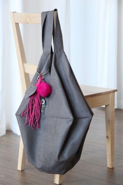 Tasche nähen, Schnittmuster Hobo Bag