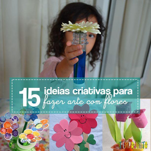 A primavera é a época perfeita para fazer atividades com o tema flores. Tudo fácil de fazer com as crianças.