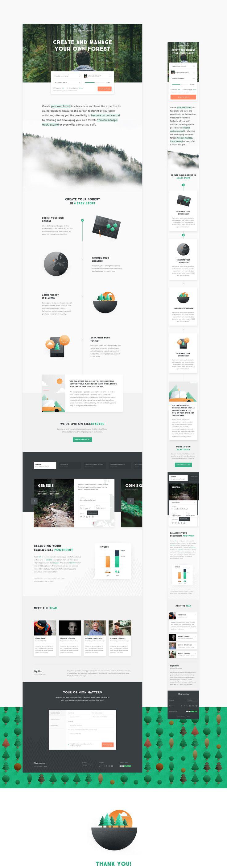 Reforestum Website on Behance