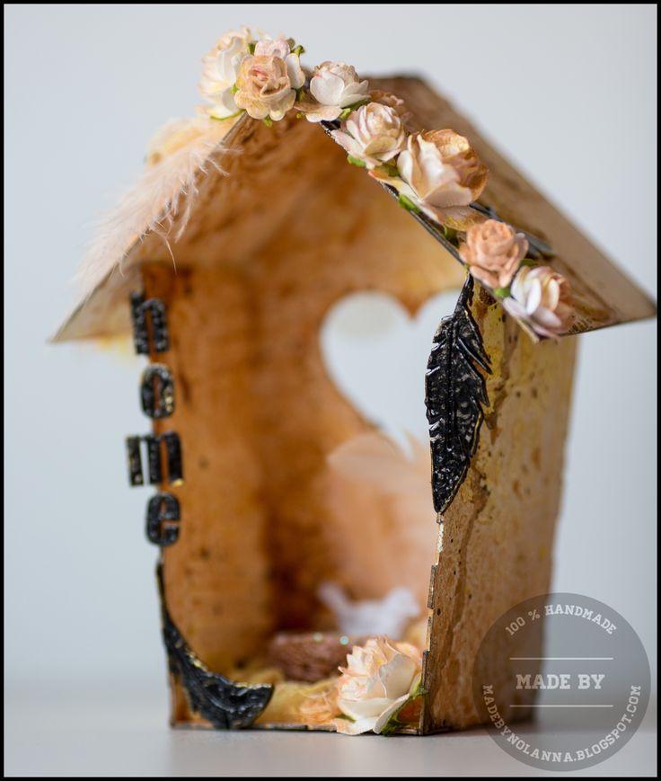 Domek dla ptaszków zrobiony z KITu Polish Kit Project  Birdhouse made with Polish Kit Project