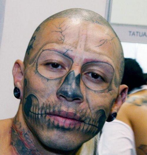 Bilderesultat for wtf bad tattoos in face
