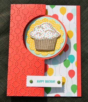 Krystal's Cards: Stampin' Up! Sprinkles of Life Cucumber Watermelon #stampinup #krystals_cards #sprinklesoflife #handstamped #cardmaking #papercrafts #stampsomething #sendacard #birthdaycard #cherryontopDSP