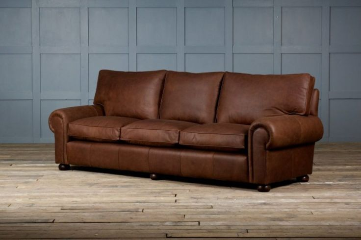 Awesome Brown Full Grain Leather Sofa Combined White Hardwood Floor With Rustic Sleeper Sofa And Rustic Leather Sofas [