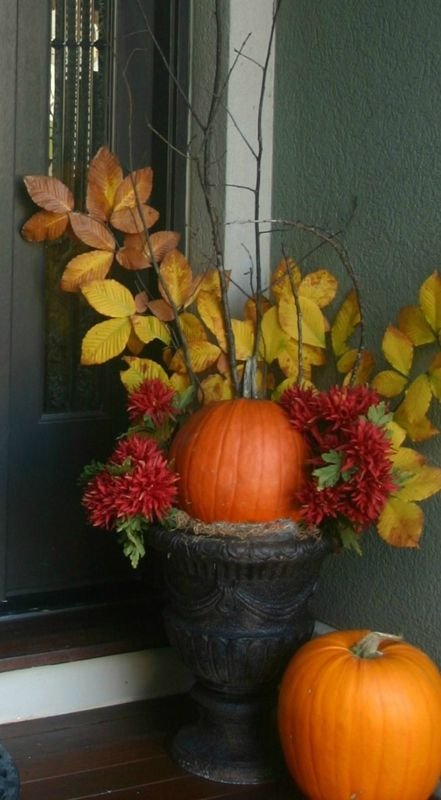 fall decorating for your front door