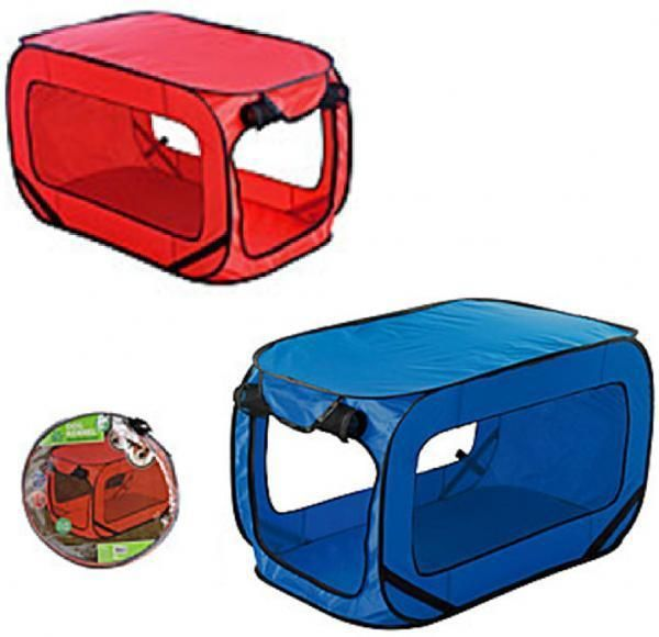 PET DOG KENNEL CAT BED HOUSE POP UP FOLDING TRAVEL FOLDABLE CAMPING TENT CAGE