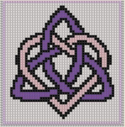 Cross Stitch Pattern Triquetra Craft von PerkiliciousPatterns