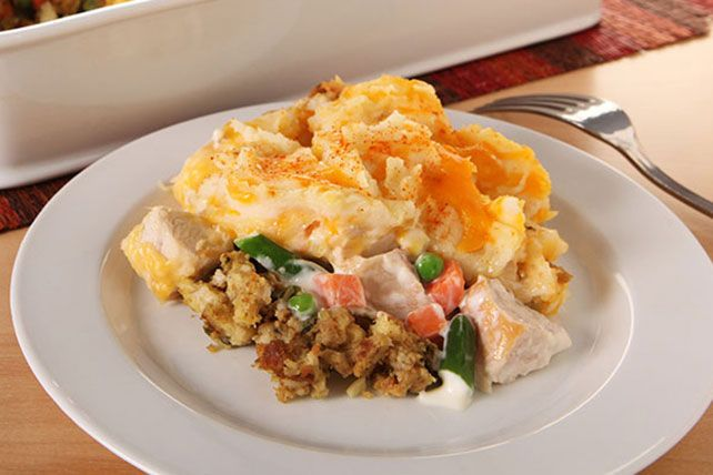 Don't be surprised when your family starts requesting roasted turkey throughout the year. What they really want is this Thanksgiving Leftovers Casserole!