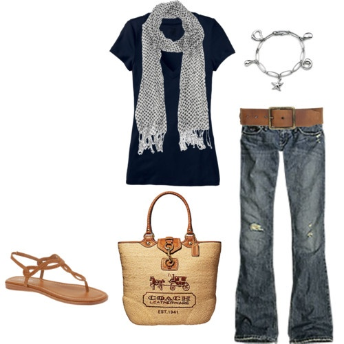 . : Shoes, Outfits, Coach Bags, Jeans, Sandals, Scarves, Scarfs, Casual Looks, My Style
