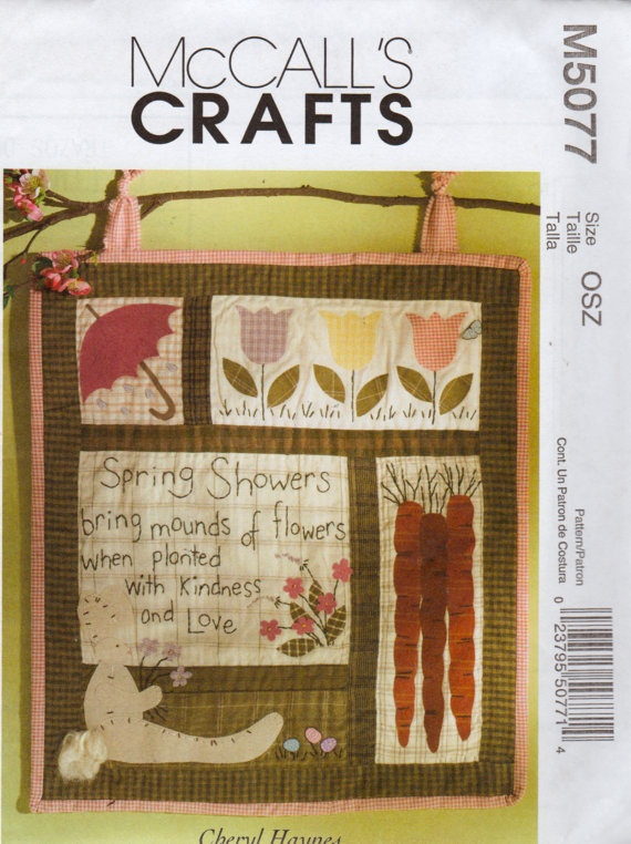 Mccalls 5077 Quilted Wall Hanging Or Quilt Block Pattern