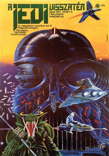 The Return of the Jedi (Helényi Tibor, 1984 - 59 x 42 cm) - get this poster on Budapest Poster Gallery's Auction on 2014 December 8th! more info: http://budapestposter.com/ordering-auction