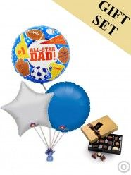 All Star Dad Balloon and Large Chocolates