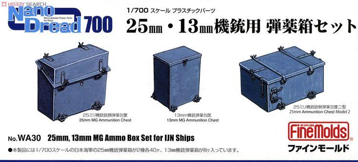 25mm・13mm機銃用 弾薬箱セット (プラモデル) パッケージ1