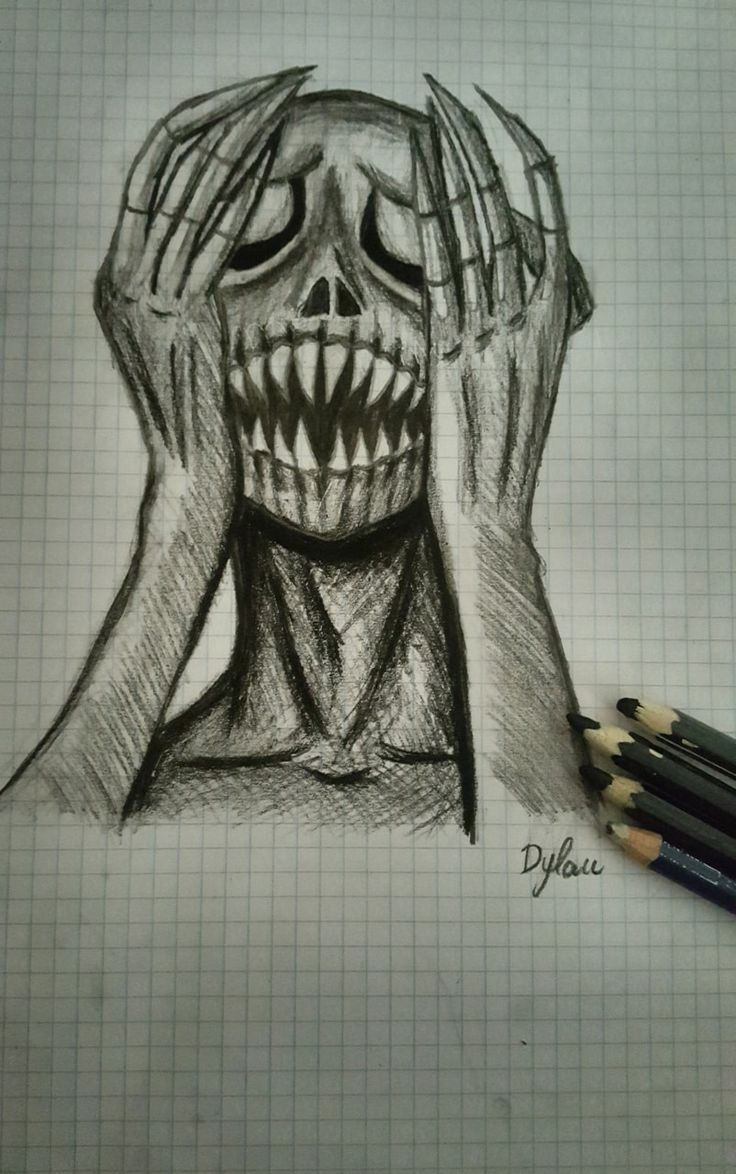 Sketch Draw Drawing Creepy Black White With Images