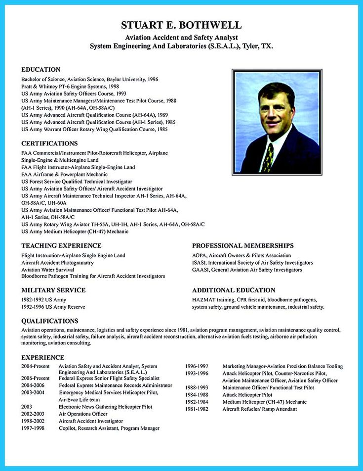 cool Learning to Write a Great Aviation Resume,