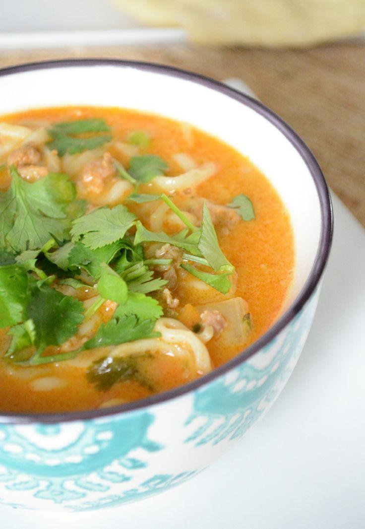 Coconut Curry Ramen Noodle Soup...