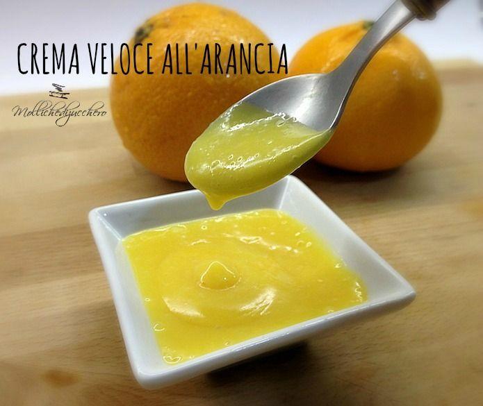 La crema veloce all'arancia è una ricetta dell'ultimo minuto, si prepara in pochi minuti con un solo uovo ed il succo di un paio di arance.