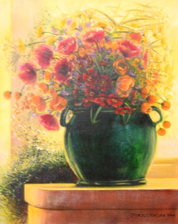Flowers (73 cm x 60 cm) acrylpaint. Author - Joanna Brzostowska