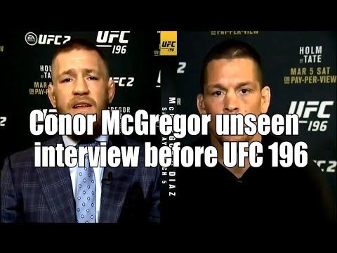 Conor McGregor Unseen Interview Before His First UFC Loss to Nate Diaz