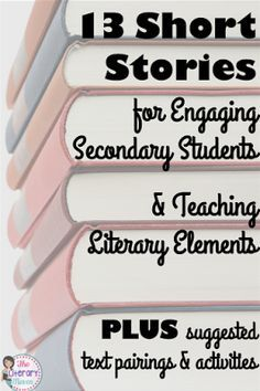 Don't let your literature anthology dictate the short stories you read with your middle school and high school students. There are so many wonderful short stories out there, many of which can be used to teach a variety of literary elements and paired with other texts. Read on for 13 of my favorites, which literary terms and skills they lend themselves to teaching, plus suggested text pairings and activities.