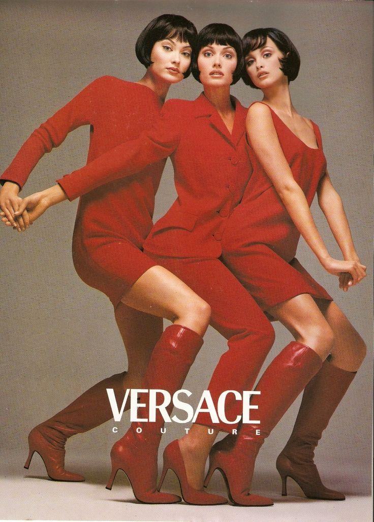 Shalom Harlow, Amber Valletta, & Trish Goff by Richard Avedon for Versace F/W 1995