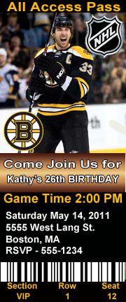 Hockey Party Theme invites — Linda Kaye's Partymakers