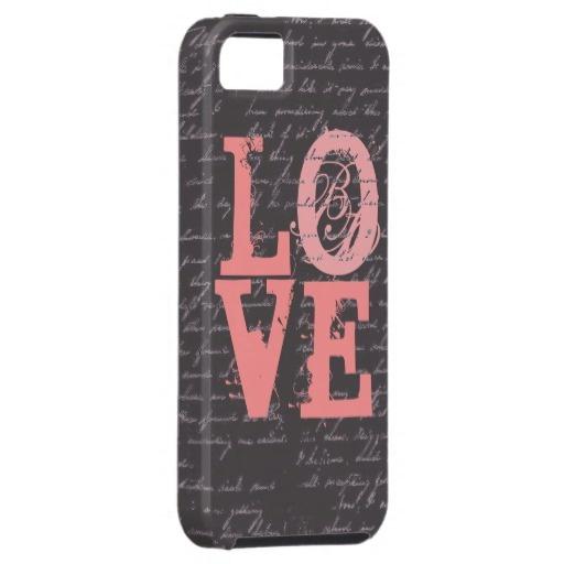 Vintage Love iphone 5 Case