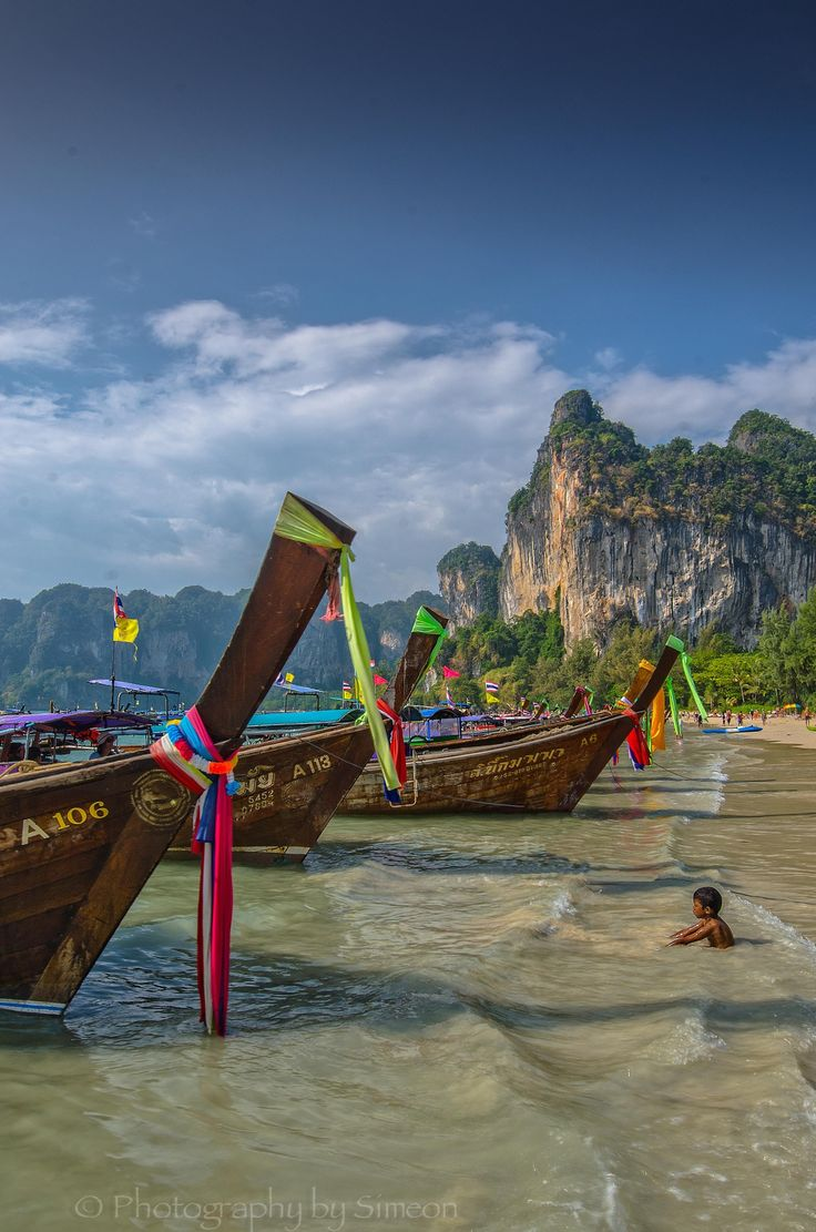 If u have never been to Railay Beach, Thailand, then you must go. This beautiful secluded beach is cut off from the rest of the world by towering limestone gradients that make for amazing climbing. It is truly the most gorgeous place.