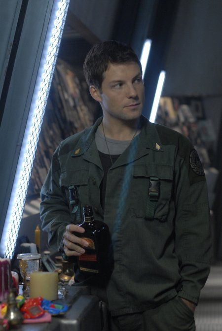 "Jamie Bamber as Lee Adama in ""BSG."""