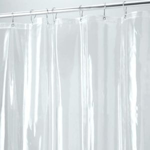 Black And Clear Vinyl Shower Curtain