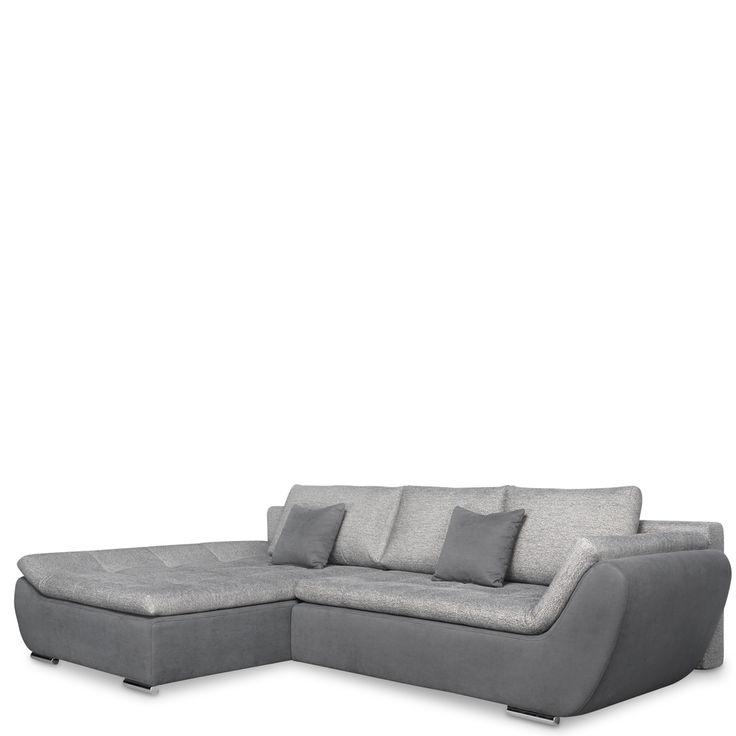 wohnlandschaft sofa ariva mit schlafsofa strukturgewebe dunkelgrau jetzt bestellen unter httpsmoebelladendirektdewohnzimmersofas - Wohnzimmer Couch Gunstig