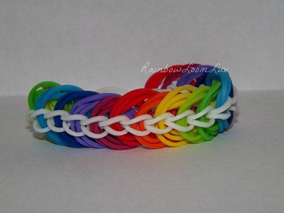 Rainbow Loom Triple Link Chain Bracelet by RainbowLoomGoons