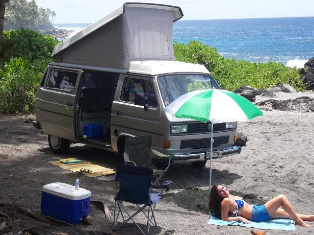 We are doing this! Hawaii Camping | VW Campers | Hawaii Vacation Rentals | VW Camper Rentals