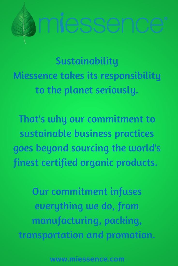 #Miessence #CertifiedOrganic takes its responsibility to the #planet seriously.