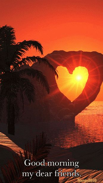 Orange Heart Good Morning... (GIF)