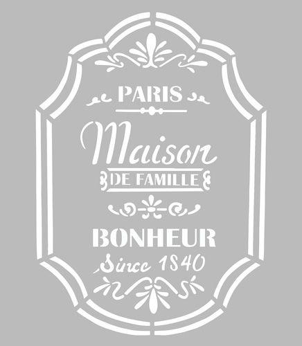 Ce pochoir adhésif repositionnable, de fabrication artisanale française dans une matière PVC grise souple, résistante et lavable, résiste à de multiples utilisations, s'adapte à la plupart des