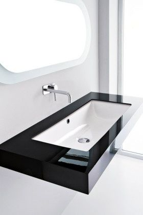 The Canale 60 is a playful and practical wall or bench basin . The design simplicity belies it's sophistication.   #STUDIOBAGNO  http://www.studiobagno.com.au/