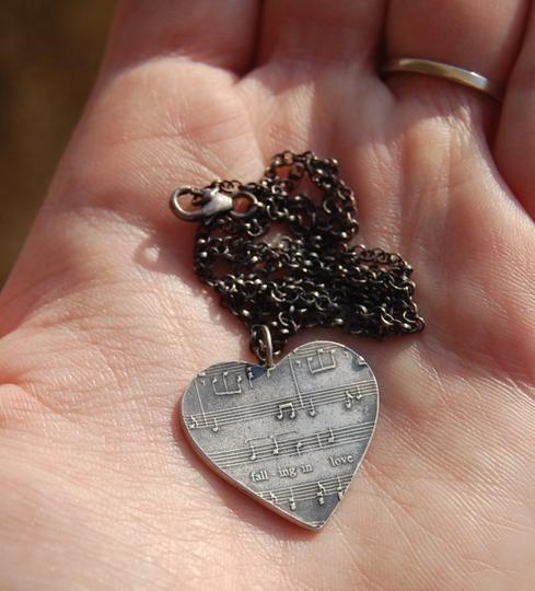 Customized Sheet Music Necklace by FlirtandFlutter | Hatch.co