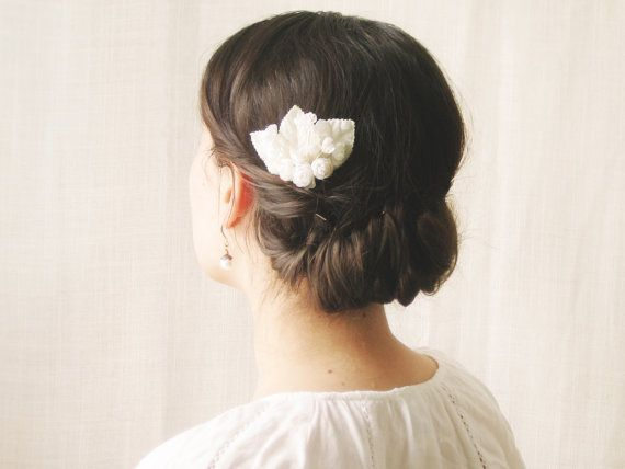 Bridal Hair Comb Vintage Hair Comb Bridal by NoonOnTheMoon on Etsy, $18.00