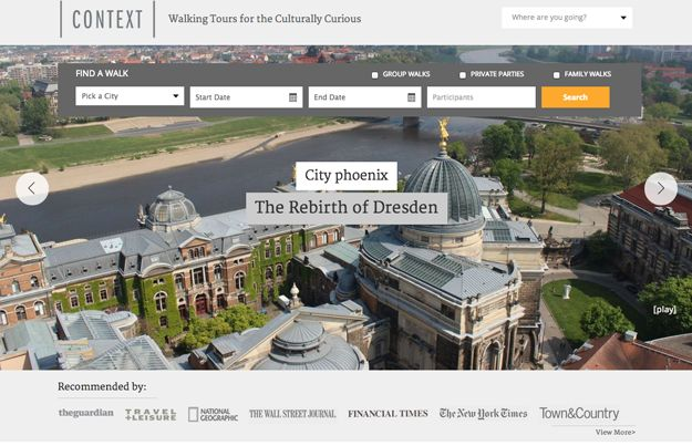 Context Travel - For a truly informative walking tour, try Context, which provides tours around the world given by prominent professors, archaeologists, historians, and urban planners.