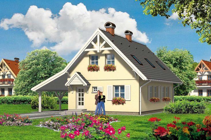 Dom jednorodzinny, parterowy z poddaszem użytkowym