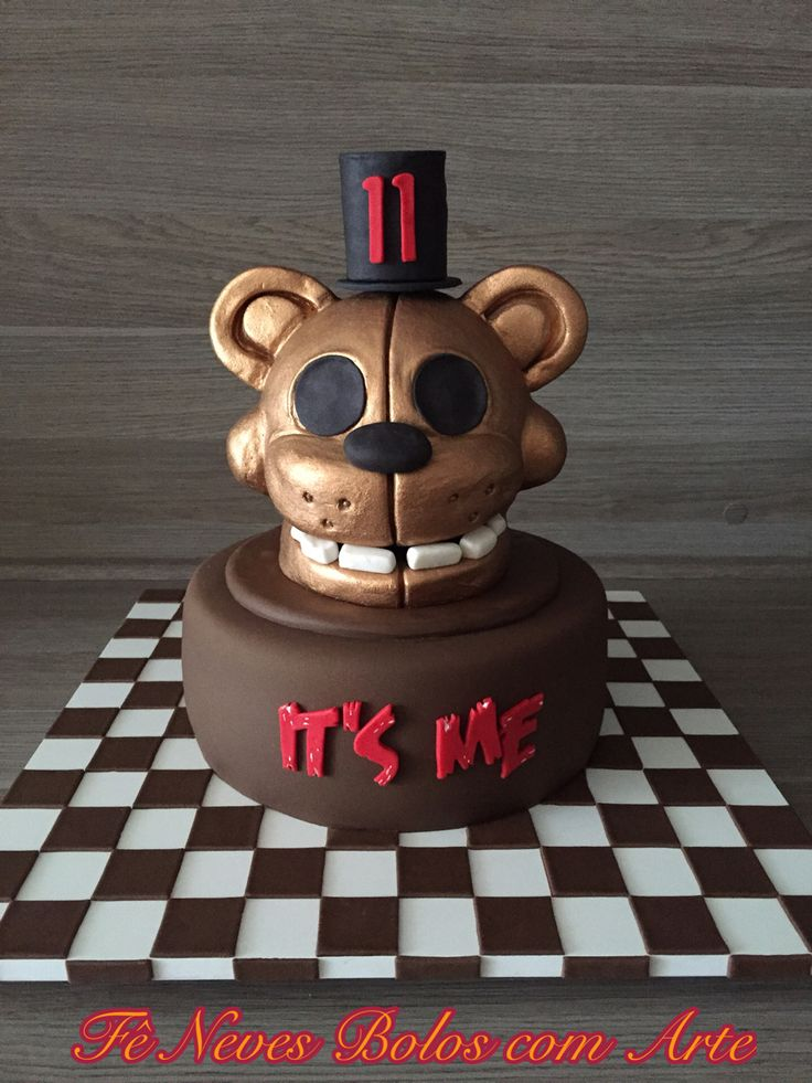 Bolo Five Nights At Freddy Five Nights At Freddy Cake Golden Freddy By F 234 Neves Bolos Com Arte