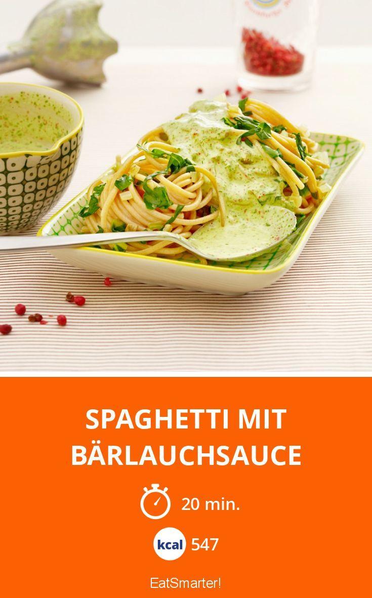 Spaghetti mit Bärlauchsauce - smarter - Kalorien: 547 Kcal - Zeit: 20 Min. | eatsmarter.de