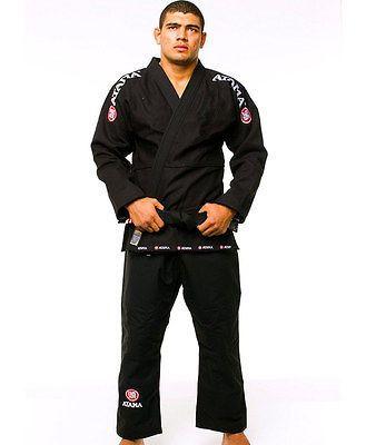 Atama Mundial Model #9 - Black Brazilian Jiu Jitsu Judo Kimono