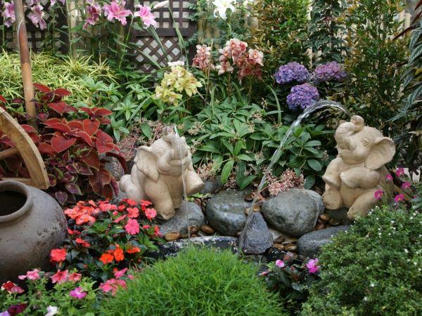 Bodendecker im Garten landschaftsbau dekoration steine sprungbrunnen