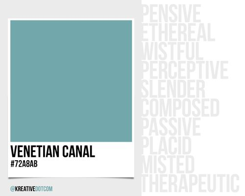What Does The Color Red Make You Feel how does the color venetian canal (#72a8ab) make you feel? what