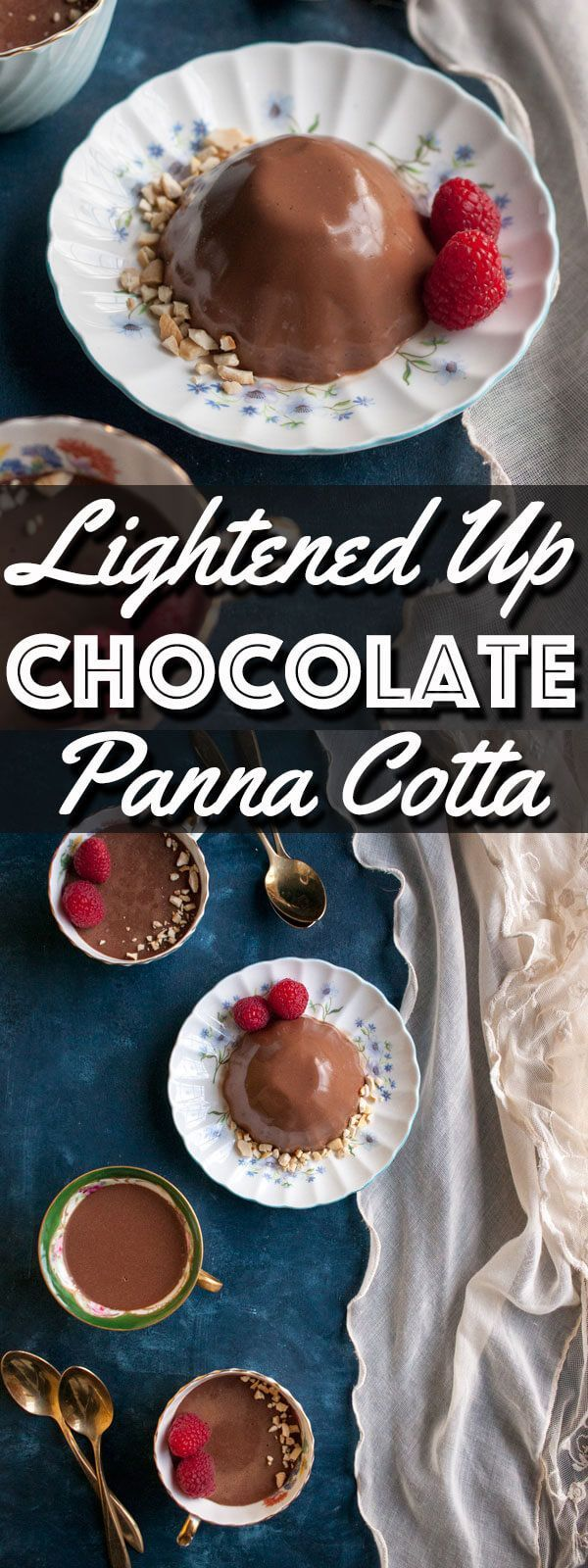 Lightened Up Chocolate Panna Cotta is a delicious and healthier version of a decadent dessert. This version of Panna Cotta will add a little sweetness to your day while still keep you on track with all of your New Year resolutions. | wildwildwhisk.com #ad #ProgressIsPerfection #CBias #CollectiveBias @Walmart @LoveMySilk
