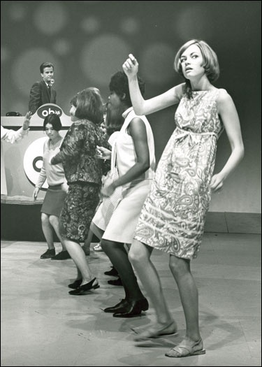 Dick Clark dancing on American Bandstand