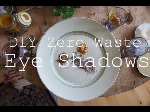 DIY Zero Waste Eye Shadows // Three Ingredients Only! - YouTube