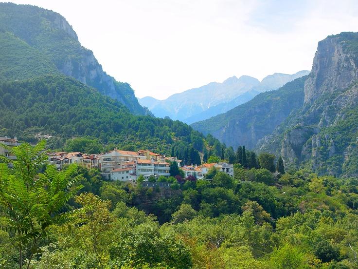Litochoro village below Mount Olympos
