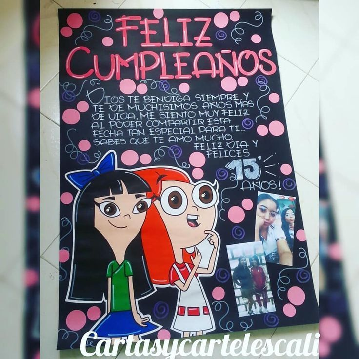 Cartel En Cartulina Negra 1 Metro Wsp 3205797879 Bff Birthday Friend Birthday Gifts Friend Birthday